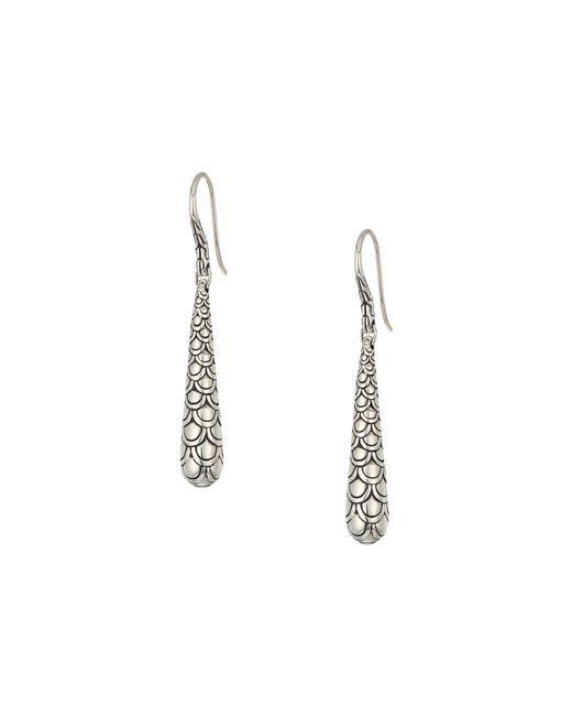 John Hardy - Metallic Legends Naga Earrings (silver) Earring - Lyst