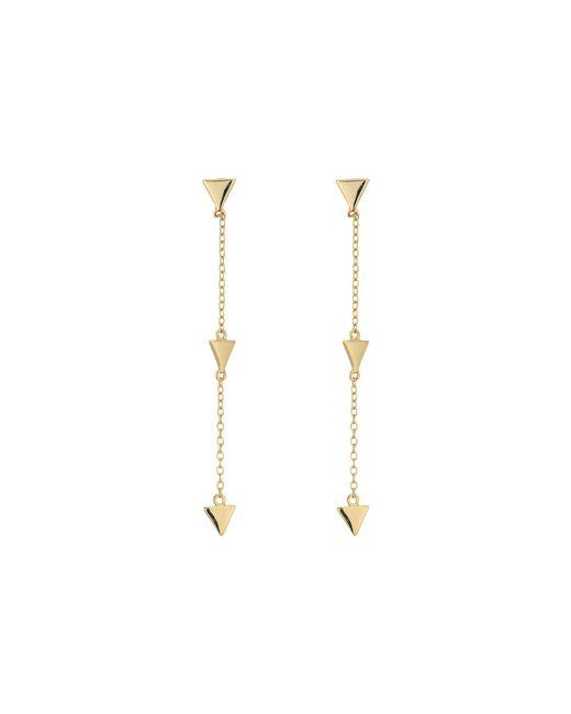 Shashi - Metallic Arrow Linear Earrings (rose Gold) Earring - Lyst