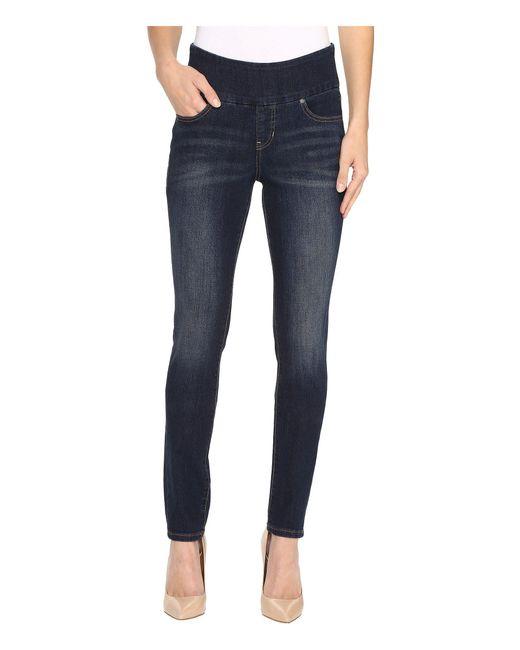 Jag Jeans | Blue Nora Pull-on Frontline Denim Skinny In Deep Ocean | Lyst
