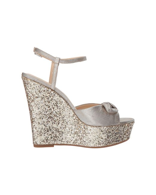 Jessica Simpson Amella Metallic Glitter Ankle Strap Wedges Ti8JAuU