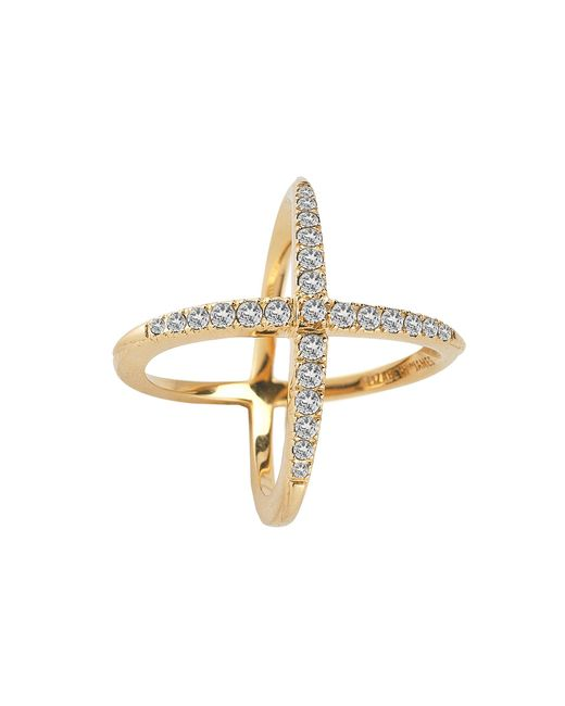Elizabeth and James - Metallic Windrose Pave Ring - Lyst