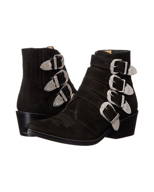 Toga Pulla | Black Western Velvet Ankle Boots | Lyst
