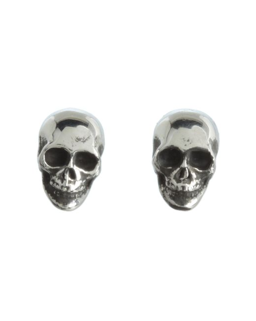 King Baby Studio | Metallic Skull Post Earrings | Lyst