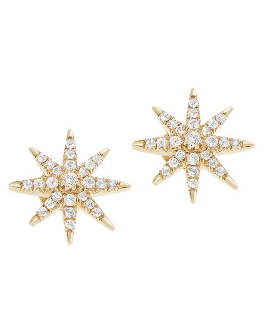 Elizabeth and James | Metallic Compass Rose Stud Earring | Lyst