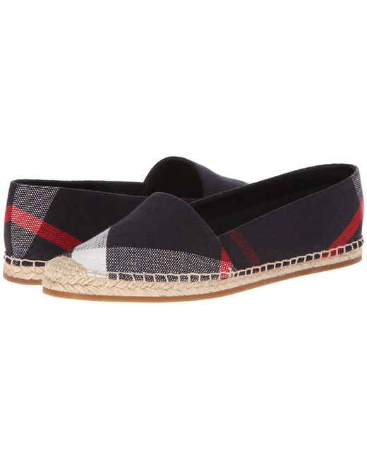 Burberry | Black Hodgeson Check Print Espadrille Flat | Lyst