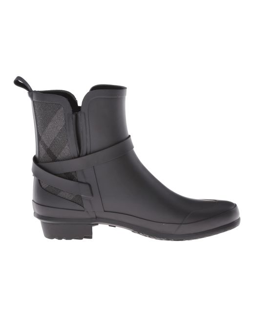 Burberry Riddlestone Rubber Rainboots in Gray for Men | Lyst