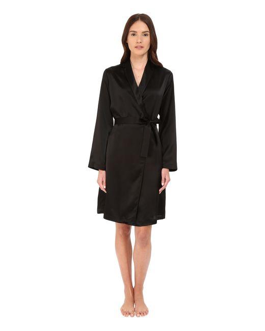 La Perla Silk Short Robe In Black Lyst
