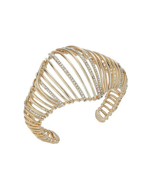 Alexis Bittar | Metallic Orbital Cuff W/ Crystal Accents Bracelet | Lyst