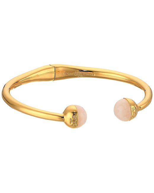 Tory Burch | Multicolor Logo Bead Hinged Bracelet | Lyst