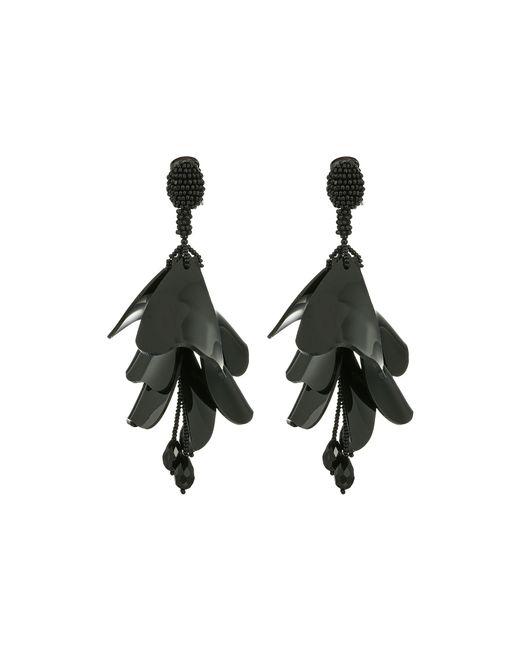 Oscar de la Renta | Black Impatiens Flower Drop C Earrings | Lyst