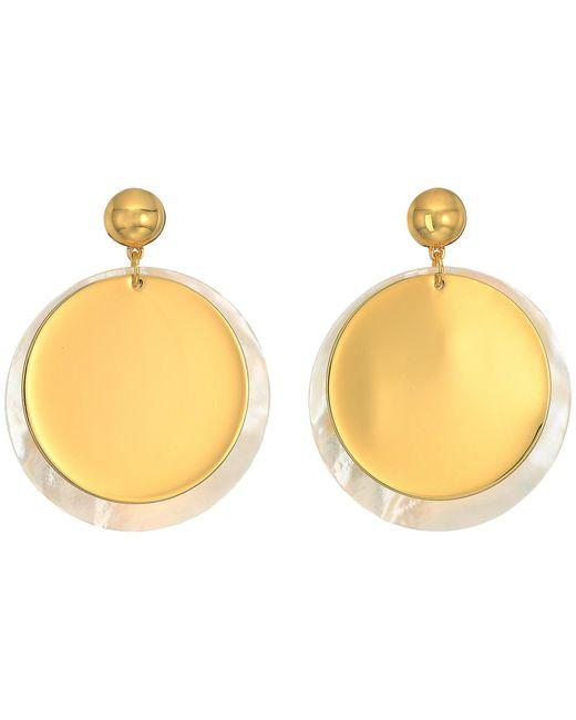 Elizabeth and James   Metallic Goldie Earrings   Lyst