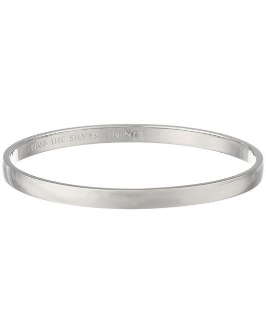 Kate Spade - Metallic Idiom Bangles Find The Lining - Solid - Lyst