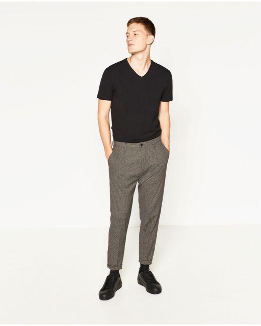 Zara | White Super Slim-fit T-shirt for Men | Lyst