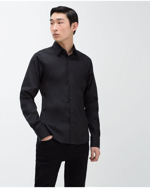 Zara | Black Super Slim Fit Shirt for Men | Lyst