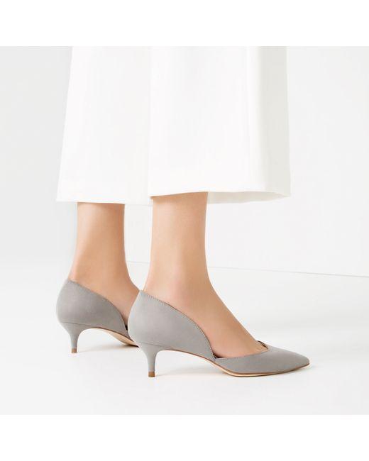 Zara Grey Kitten Heel Shoes