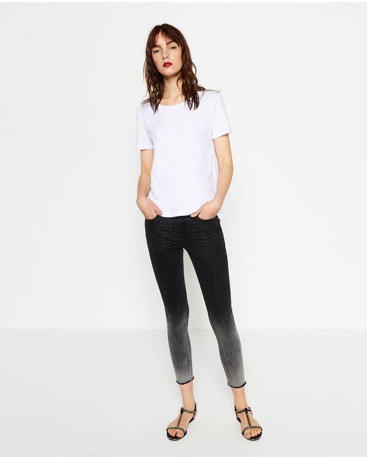 Zara | Black Mid-rise Skinny Jeans | Lyst