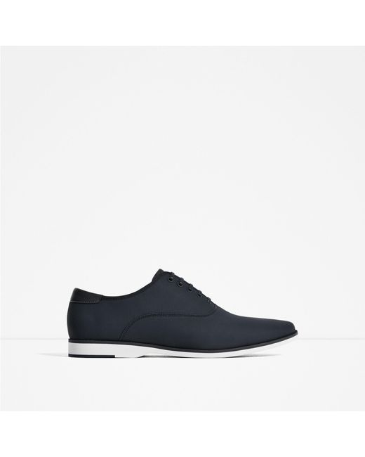 zara casual shoes in blue for lyst