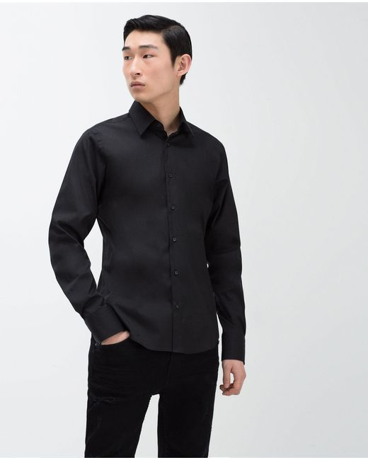 Zara | Black Super Slim Fit Shirt for Men | Lyst