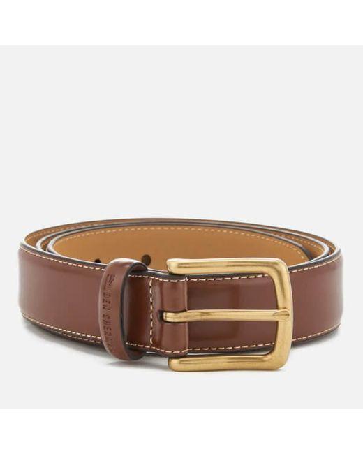 Ben Sherman - Brown Leather Vauxhall Belt for Men - Lyst