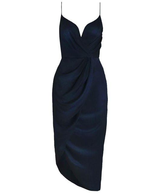 Zimmermann | Black Sueded Silk Plunge Short Dress | Lyst