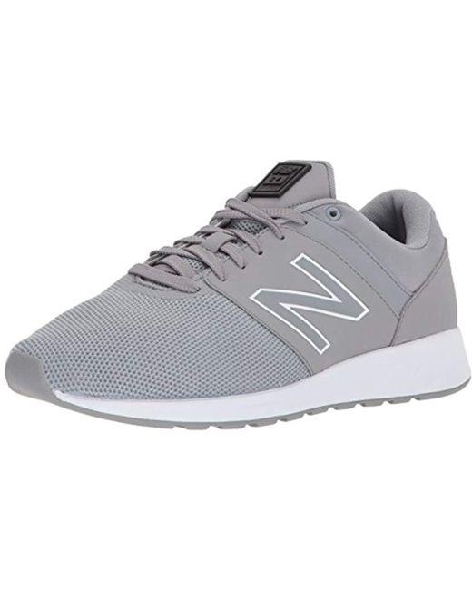 New Balance Men's White Leather Sneaker