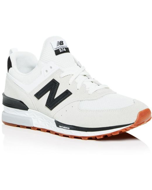 New Balance White Men's Classic 574 Lace Up Sneakers