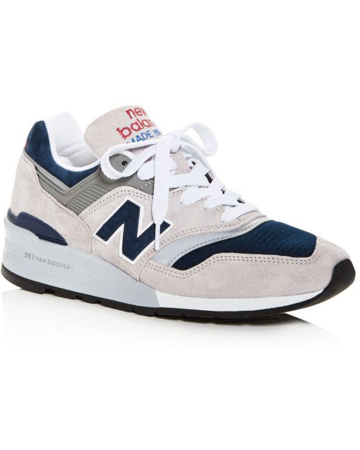 New Balance Blue Men's 998 Suede Lace Up Sneakers