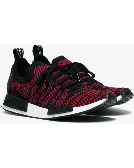 adidas Men's Black Nmd R1 Stlt Primeknit Sneakers