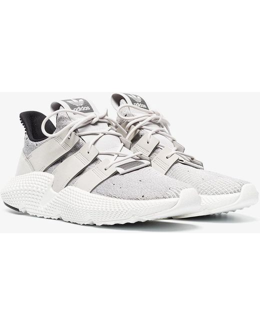 adidas White Women's Prophere Knit Lace Up Sneakers
