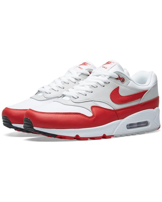 Nike Men's White Air Max 1 Leather Trainers