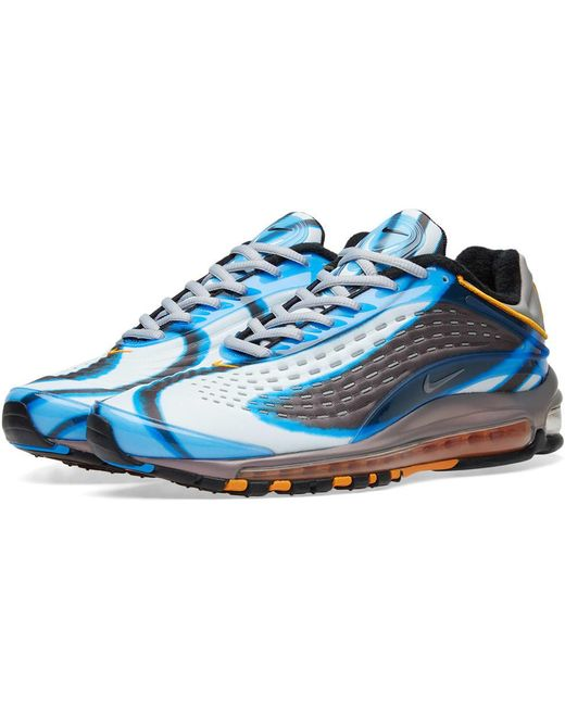 Nike Men's Blue Air Max Deluxe Printed Neoprene And Rubber Sneakers