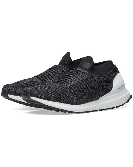 adidas Men's Black Ultra Boost Laceless
