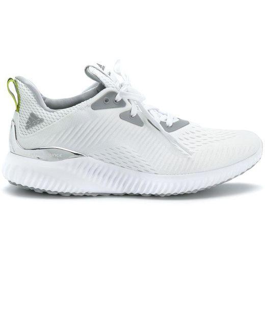adidas Originals Men's White Alphabounce Sneakers