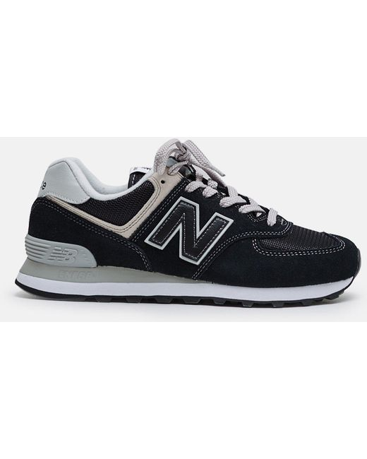 New Balance Men's Blue 574 Classic Suede Mesh Sneakers