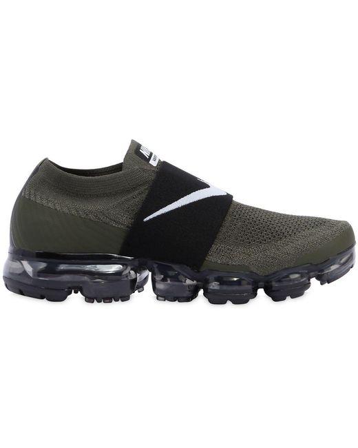 Nike Men's Gray Air Vapormax Flyknit Moc Sneakers