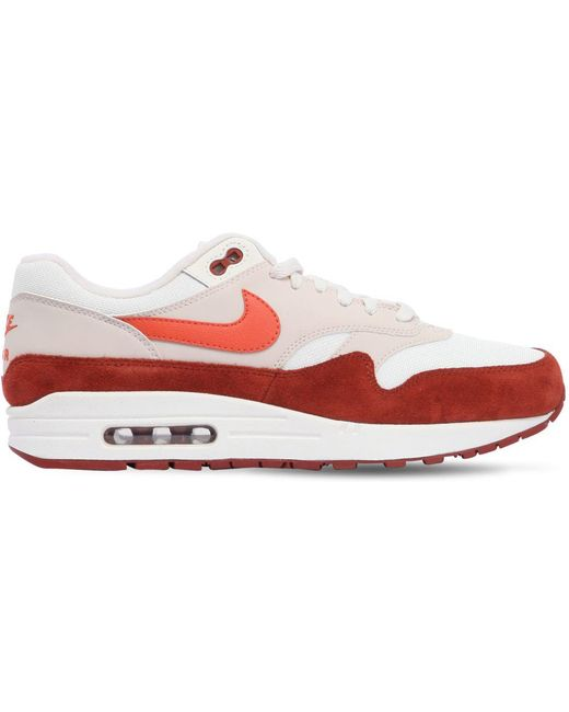 Nike Men's Red Air Max 1 Ultra Flyknit Sneakers