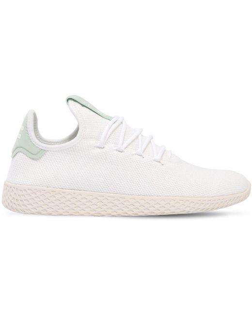 adidas Originals Men's White Pw Hu Primeknit Sneakers