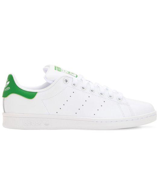 adidas Originals Men's White Stan Smith Leather Sneakers