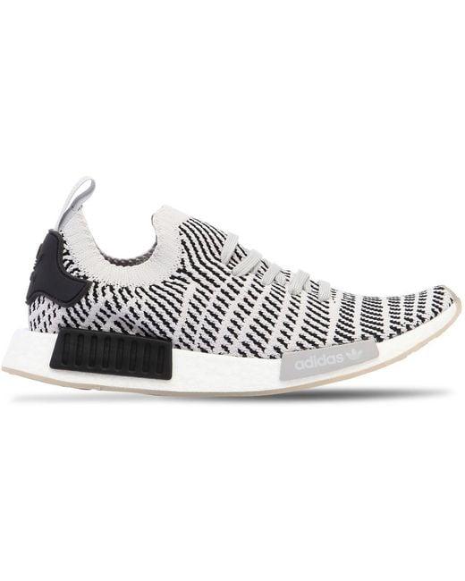 adidas Originals Men's White Nmd R1 Stlt Primeknit Sneakers