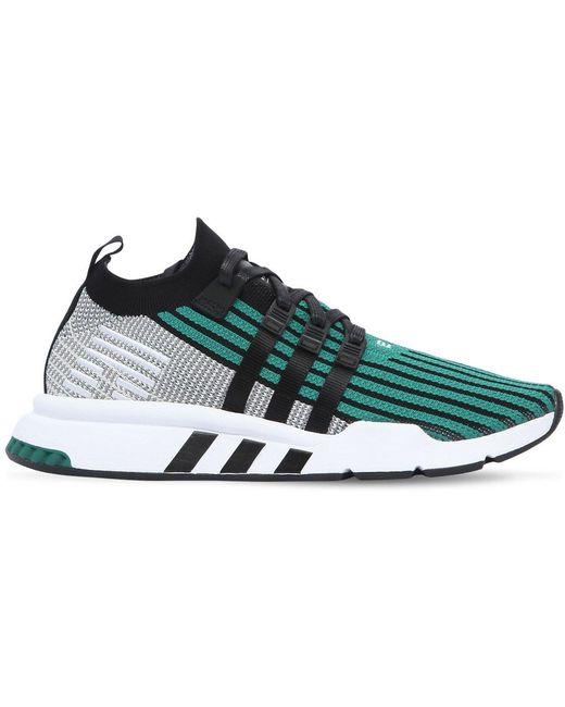 adidas Originals Men's Green Eqt Support Primeknit Trainers