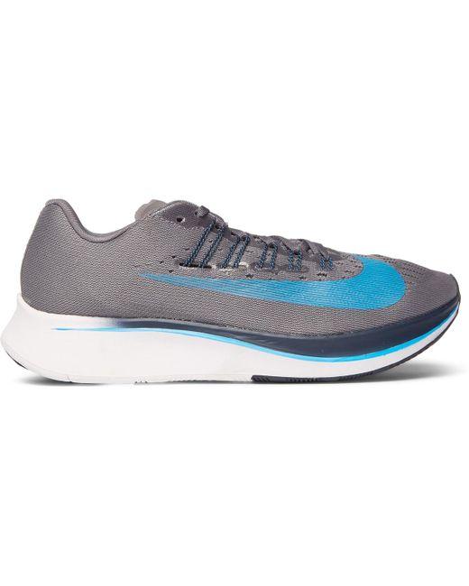 Nike Men's Black Zoom Fly Mesh Sneakers