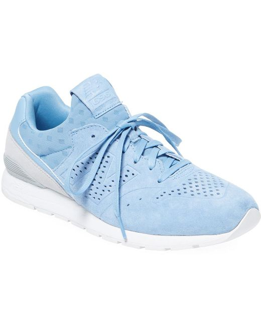 New Balance Men's Blue Solid Lace-up Sneaker