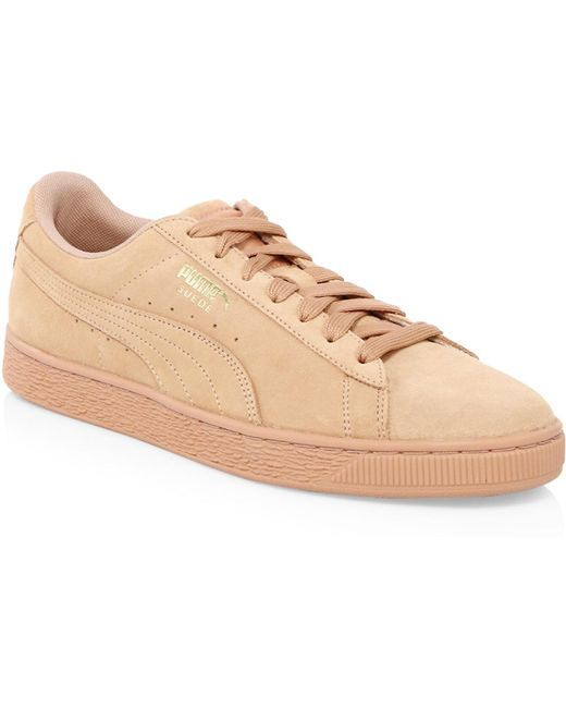PUMA Men's Classic Tonal Suede Low-top Sneakers