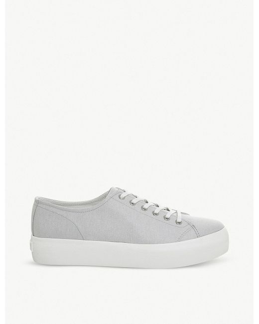 Converse Men's White All Star Flatform Canvas Trainers