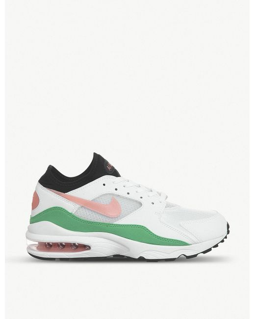 Nike Men's White Air Max 93 Leather Trainers