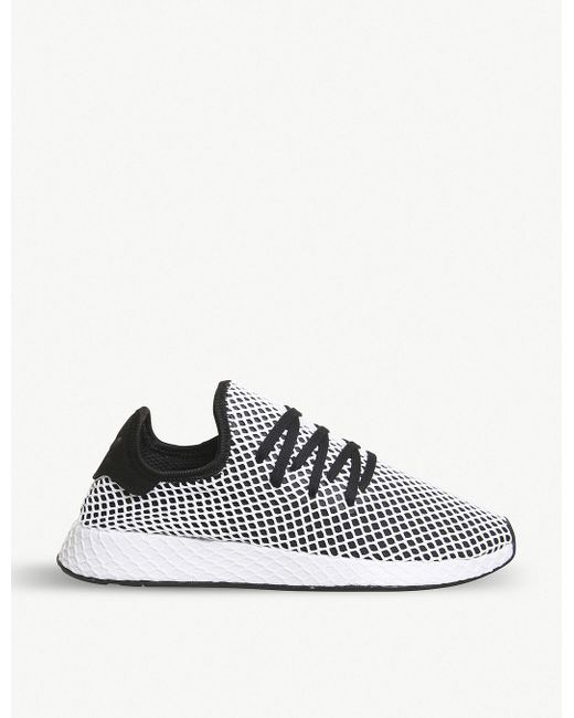 adidas Men's Gray Deerupt Low-top Mesh Trainers