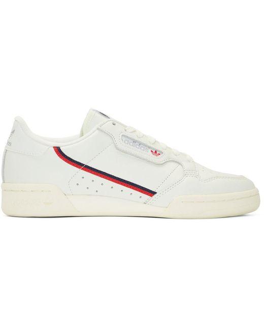 adidas Originals Men's Black Continental 80 Sneakers