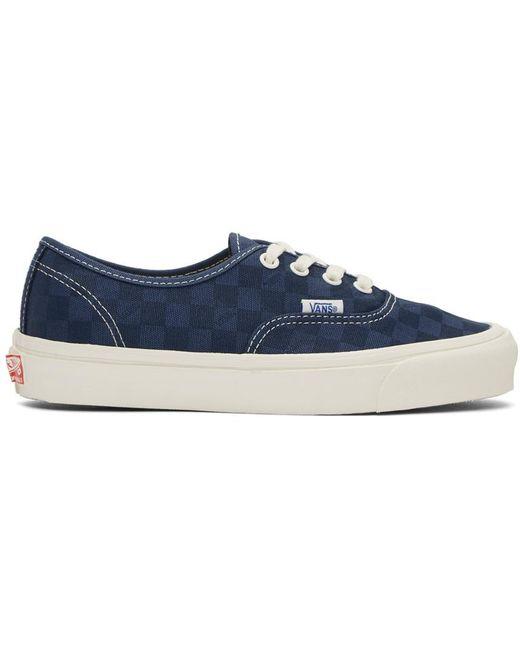 Vans Men's Blue Navy Checkerboard Og Old Skool Lx Sneakers
