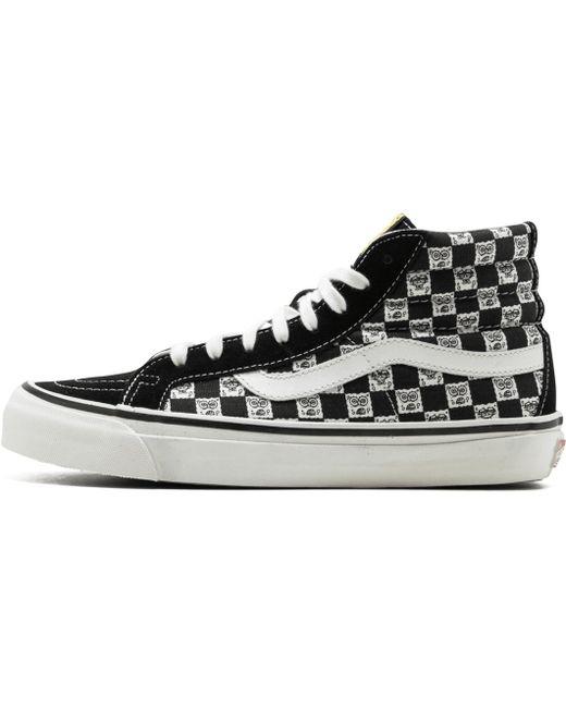 Vans Men's Black Og 138 Sk8 High Top Canvas Sneakers With Leather