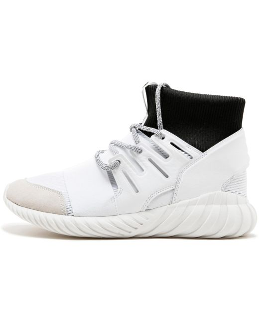 adidas Men's White Tubular Doom Primeknit Trainer